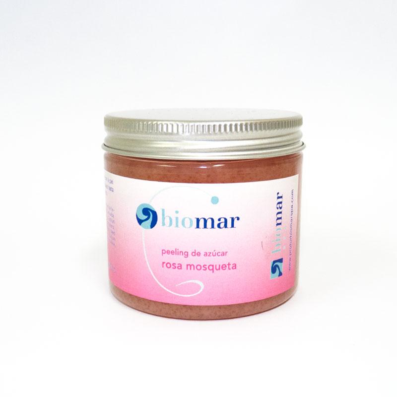 Peeling de azúcar rosa mosqueta